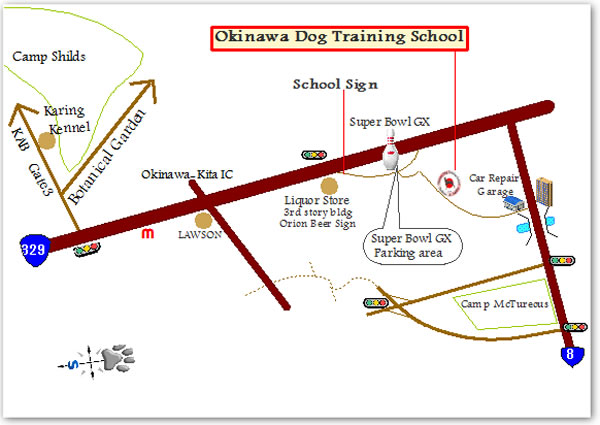 − Okinwa Dog Training School − MAP